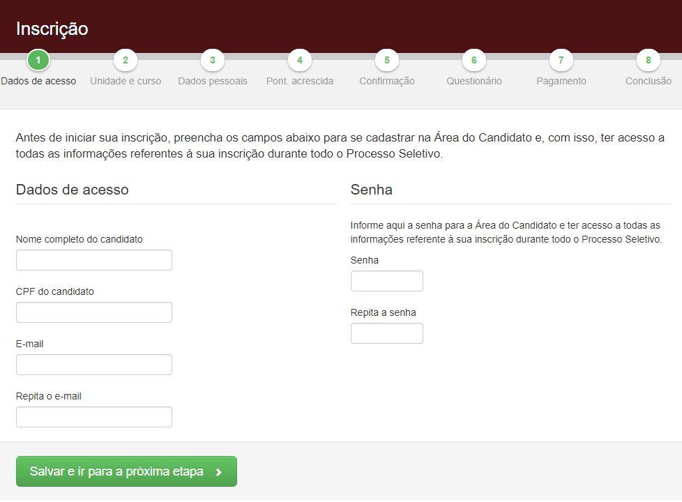 Inscrições ETEC 2022